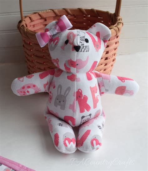 Baby Clothes Memory Bear Pattern And Tutorial Pa Country Baby Laundry Hers
