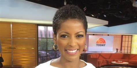 the today show tamara hall hair cut tamron hall wears natural hair on tv for first time ever