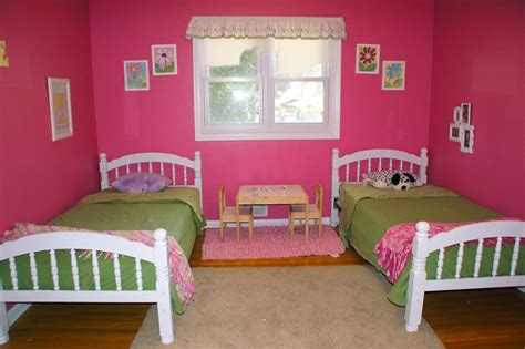Toddler Bed Done Deal Girls Shared Bedroom Flower Theme The Kid Friendly Home