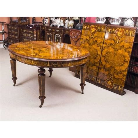 Handmade Table L Bespoke Handmade Burr Walnut Marquetry Dining Table And 8 Chairs At 1stdibs