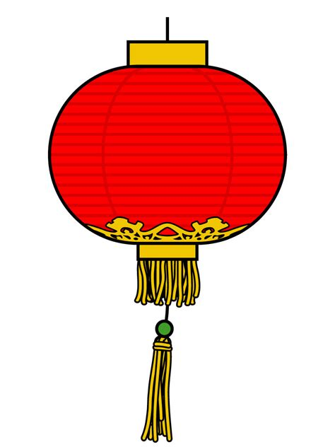 clip art chinese lantern love b w abcteach