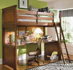 Loft bunk bed with a cool desk below fits in effortlessly in any small