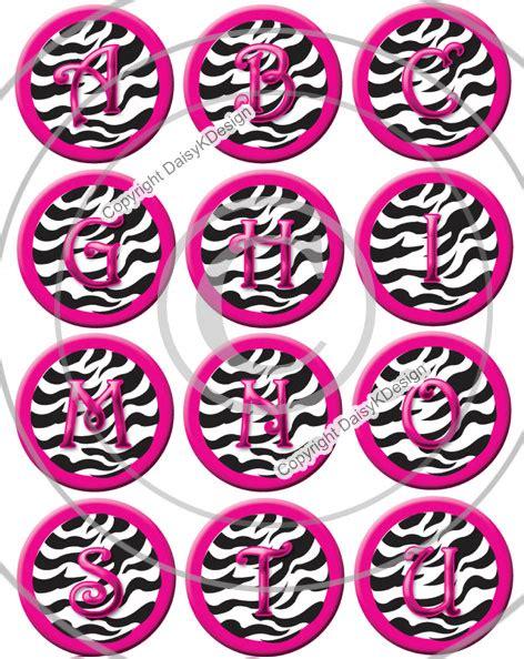 zebra print alphabet bottle cap images  bottle cap