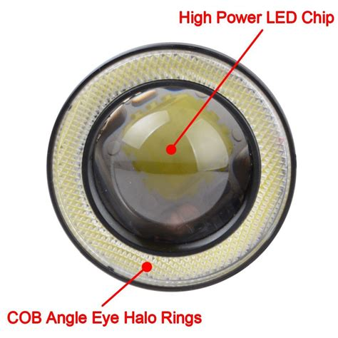 Lu Eye Angle Projector Be Xenon 2ring 1set white optical lens ring projector led drl l daytime fog light