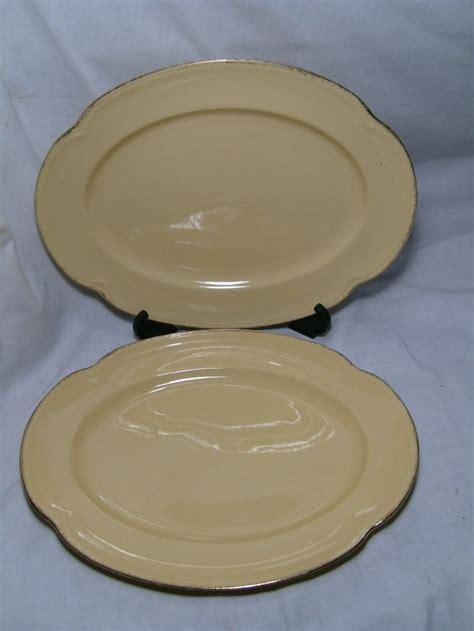 Bros Jumbo Merak Yellow 2 large yellow johnson bros platters goldendawn ebay vintage treasures eat me