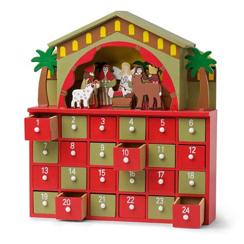 wooden nativity advent calendar calendar template 2016