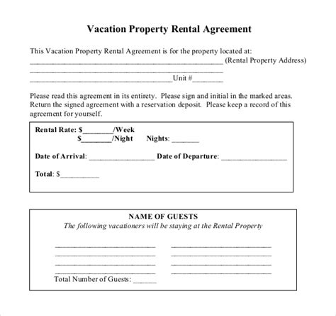 Rental Agreement Templates 17 Free Word Pdf Documents Download Free Premium Templates Condo Rental Lease Template