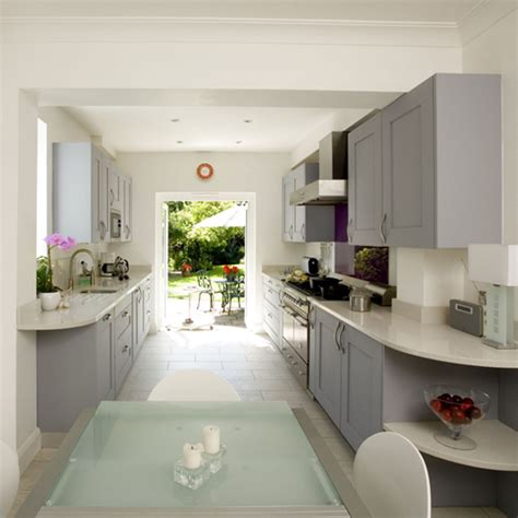 kitchen decorating ideas uk galley kitchen kitchen design decorating ideas ideal home