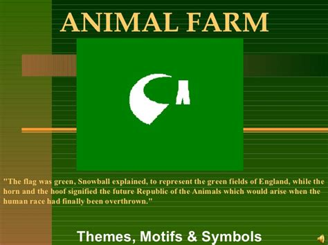 themes and exles in animal farm animal farm theme symbols motifs
