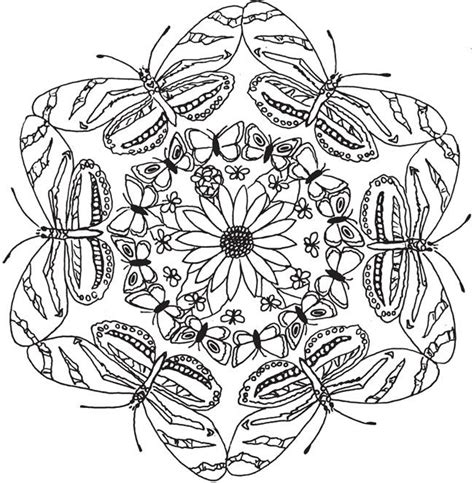 butterfly mandala coloring page 301 moved permanently
