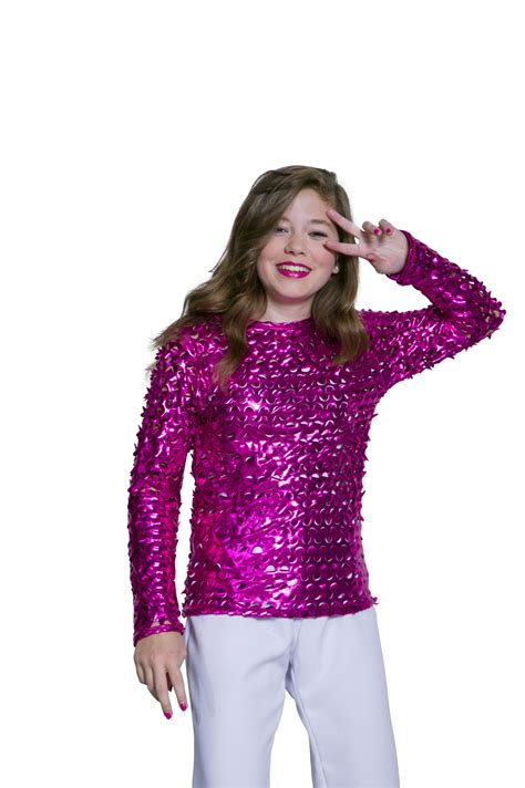 Blouse Filia Pink disco bluse pink stretch