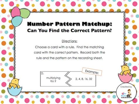 pattern rule games day 13 freebie number patterns and their rules