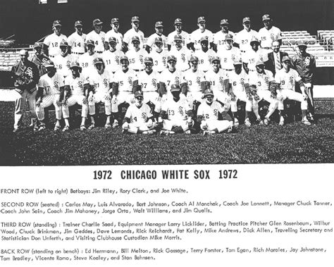 thedeadballera 1972 chicago white sox team photo