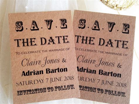 Save The Date by Save The Date Cards Etiquette Chain Invites