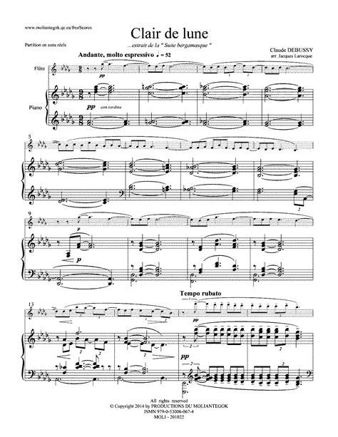 debussy clair de lune mp clair de lune piano sheet music pdf au clair de la lune
