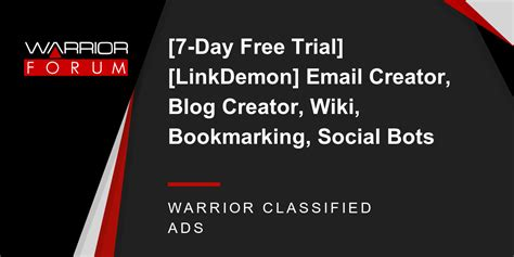 7 Day Free Trial Search 7 Day Free Trial Linkdemon Email Creator Creator Wiki Bookmarking Social Bots