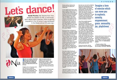 2012 press balance magazine article let s dance nia
