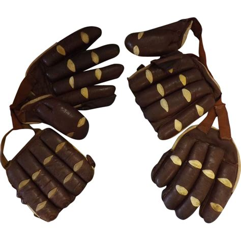 Furniture Store Kitchener by Cricket Batsman S Old Leather Gloves Circa 1910 1930