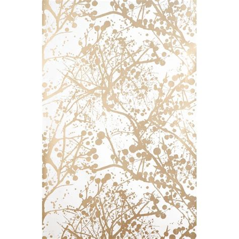 gold wallpaper designs uk papier peint blanc et or wilderness par ferm living