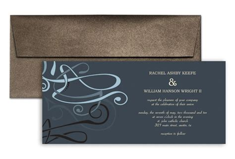 horizontal wedding invitation templates 4x9 horizontal graphic wedding invitation templates 9x4 in