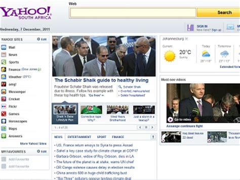 yahoo email co za yahoo launches new services in south africa