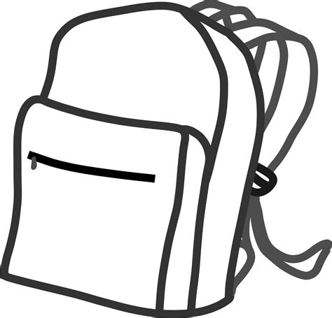backpack coloring page backpack coloring page clipart panda free clipart images
