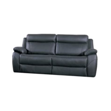 furniture link alessia black leather 3 seater recliner