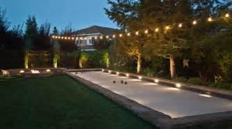The Backyard Restaurant Lighting For A Bocce Ball Court Lighting Xcyyxh Com