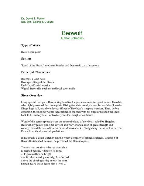 Beowulf Resume by Beowulf Boasting Quotes Quotesgram