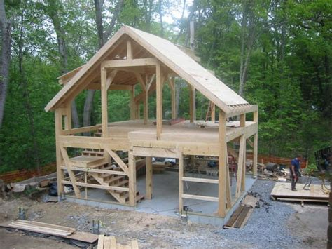 How To Build A Post And Beam Shed by 1000 Ideas About Post And Beam On Timber
