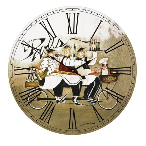 artistic home decor artistic home decor chef in wall clock cocina