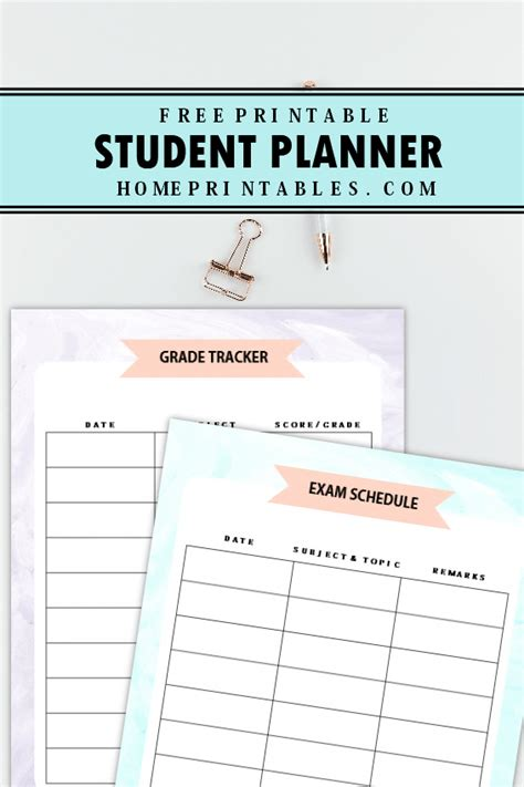 academic planner printable free the amazing student planner free printable to use today