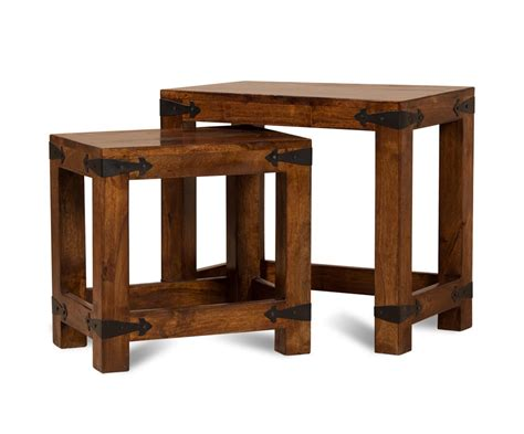 Mango Wood Side Table Mango Wood Side Table Nest 2 Tables Fit Together Casa Furniture Uk