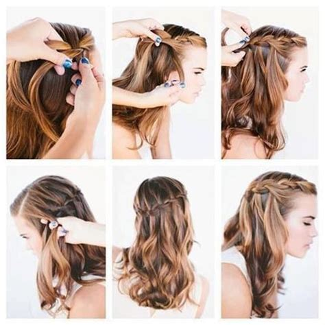 step bu step coil hairstyles 60 simple diy hairstyles for busy mornings waterfall