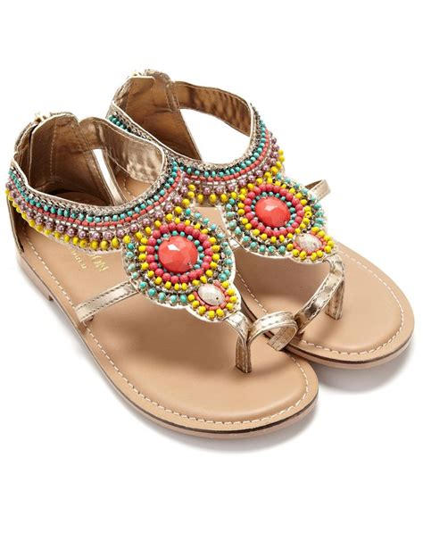 beaded sandal ethnic beaded sandal gold monsoon swagg babies