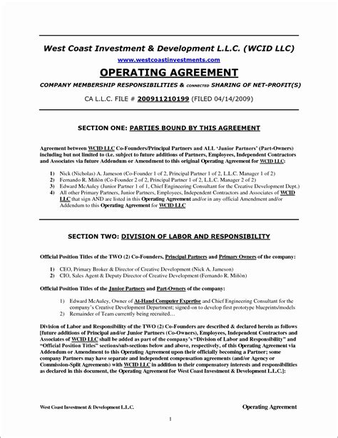 operating agreement llc virginia template single member llc operating agreement virginia motavera