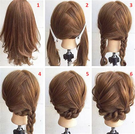 easy updo hairstyles step by step simple hairstyles step by step for medium hair amazing