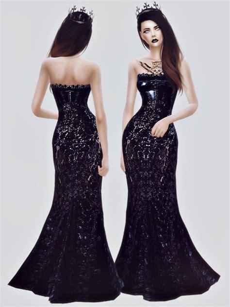 Cc Dress Black Purple black gown at fashion royalty sims 187 sims 4 updates
