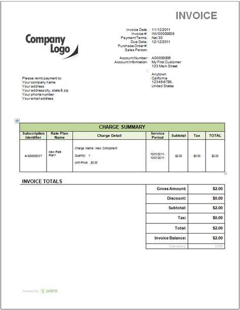 Free Invoice Template With Logo How Do I Remove The Zuora Logo From My Invoice Template