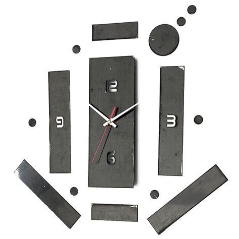 Mekanisme Jam Kuarsa Set 2 audew diy 3d stereo rumah fashion modern dekorasi jam