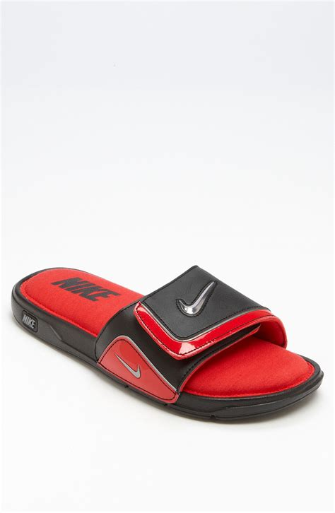 nike slides comfort 2 nike comfort slide 2 slide in black for men red grey