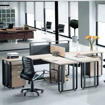 Low Price Modern Office Furniture Iron Computer Desk For 2 Low Cost Office Furniture