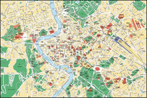 map of city center large detailed map of rome city center rome city