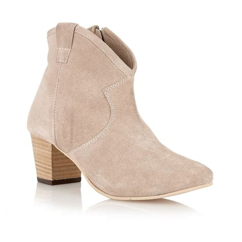 foot boot buy ravel 65 ankle boots in beige suede