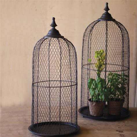 wire bird cage domes set of 2 eclectic home decor