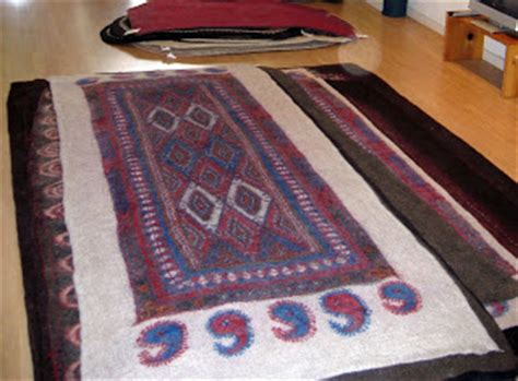 Peace Industry Rugs by Bleu Arts Wool Felt Rugs At Peace Industry