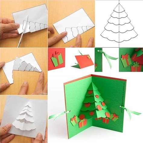 wonderful diy christmas tree pop up greeting card