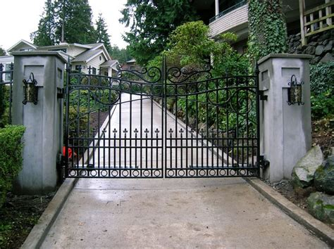 swinging gates for driveways 73 best images about custom residential iron gates by
