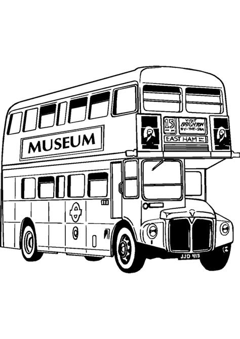 Coloriage Bus 224 Imp 233 Riale De Londres Hugolescargot Com