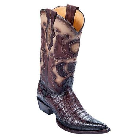 los altos s pointed toe caiman belly cowboy boots